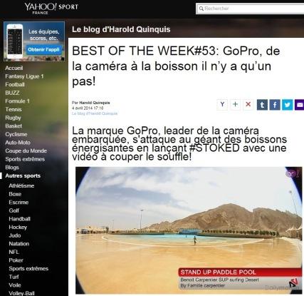BenoitCarpentier-Yahoo!Sport-BestOfTheWeek-4avr2014
