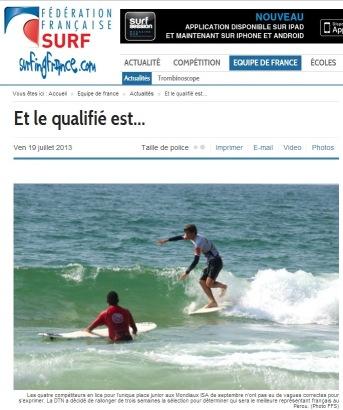 Surfing France 19 juillet