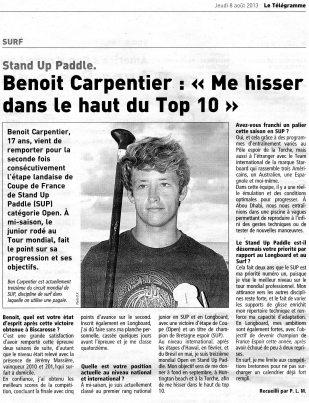 Télégramme page Sport 8aout