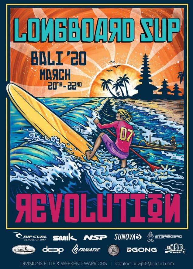 ®Benoit-CARPENTIER-Affiche-BALI-©-Longboard-SUP-Revolution